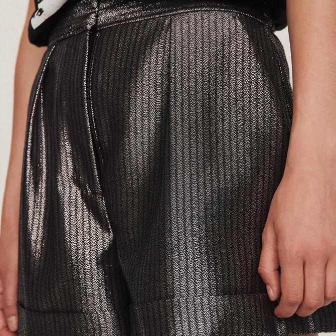 Cuffed shorts in Lurex - See all - MAJE
