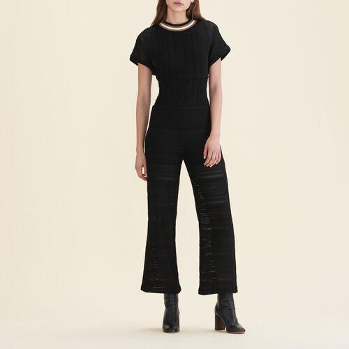Combinaison pantalon en maille - Pantalons - MAJE