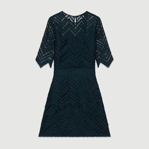 Robe droite en dentelle : Robes couleur VERT