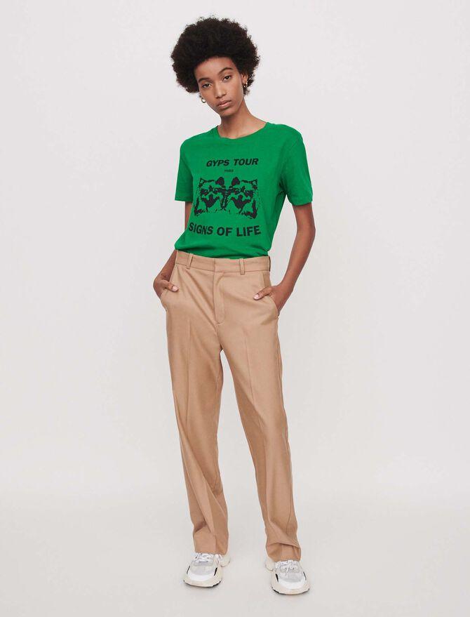 Wide straight-leg pants -  - MAJE