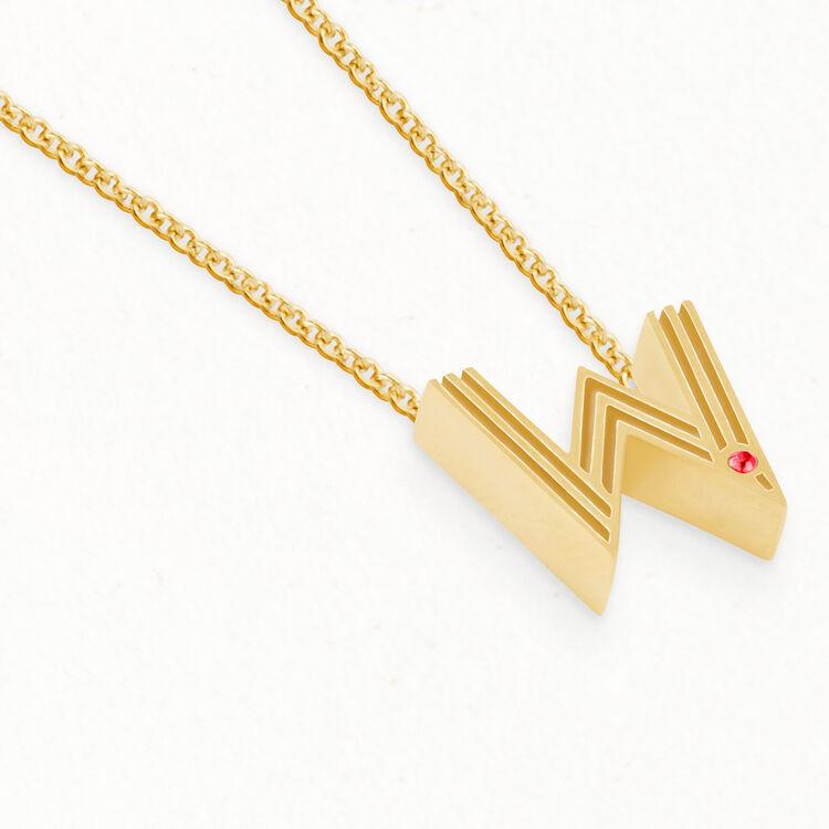 Collier avec pendentif initiale : Bijoux couleur OR