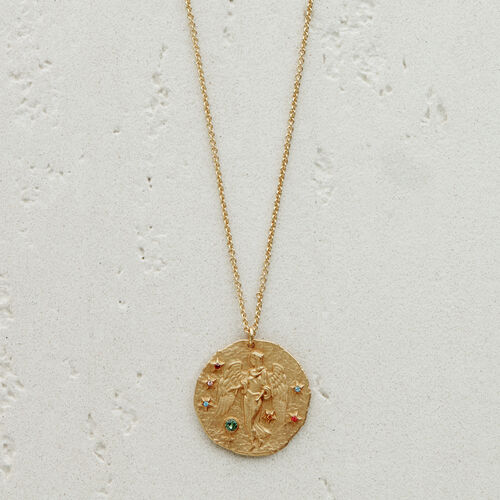 Virgo zodiac sign necklace : See all color GOLD