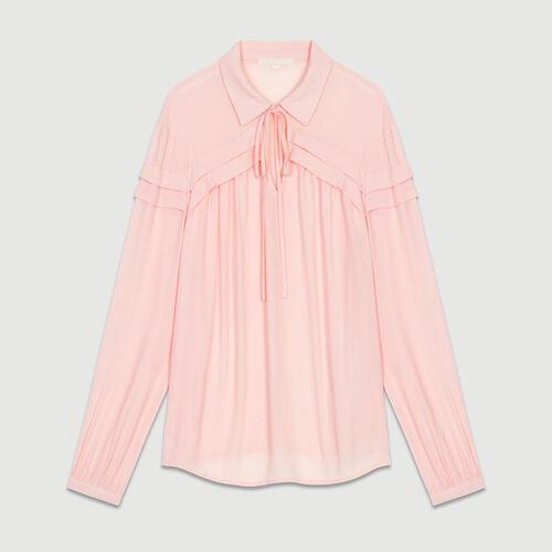 Blouse col chemise : Tops couleur LILA