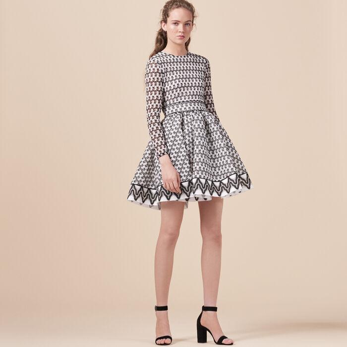 Lace skater dress - Dress Code - MAJE