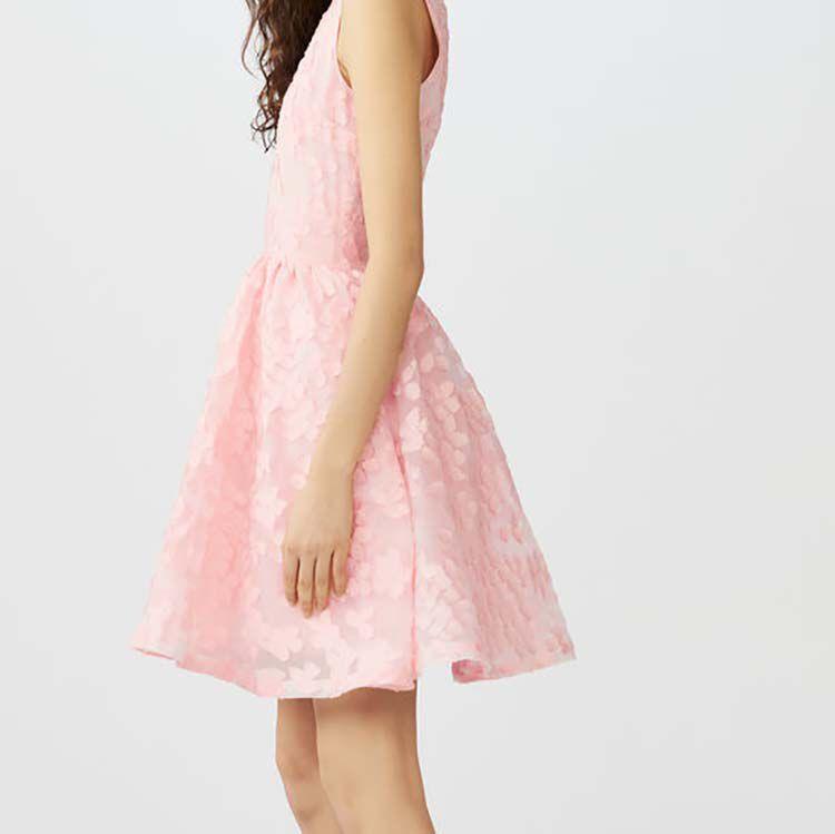 Robe sans manches en maille basket : Robes couleur Rose