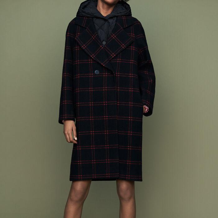 Manteau à carreaux avec doudoune : Manteaux couleur CARREAUX
