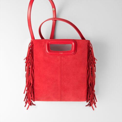 Suede M bag : M bag color Red