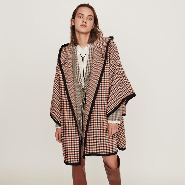 Manteau façon poncho réversible : Manteaux & Blousons couleur Carreaux