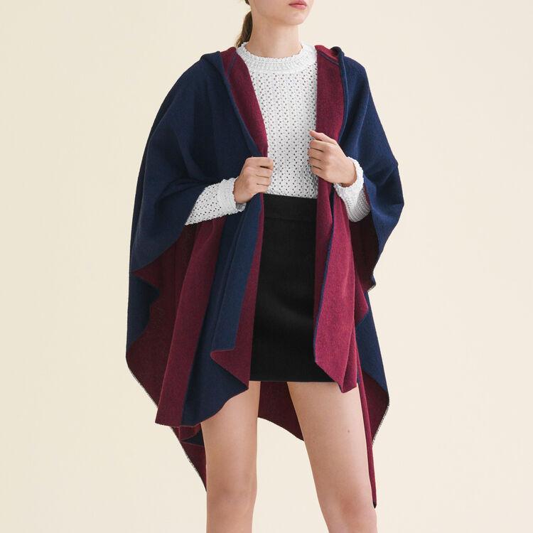 Poncho réversible à capuche : Accessoires couleur BORDEAUX