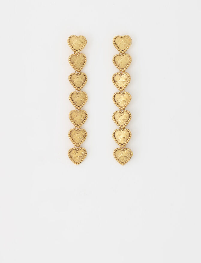 Heart drop earrings - Jewelry - MAJE