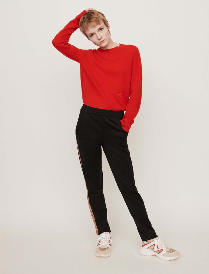 Neoprene jogging-style pants - Trousers & Jeans - MAJE