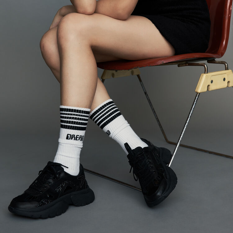 Socks urbaines en coton : Gift with purchase couleur Blanc