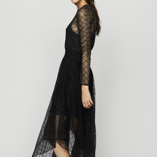 Robe en tulle plumetis : Robes couleur Black