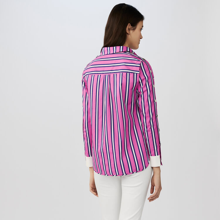 Chemise en coton : Chemises couleur Rayure