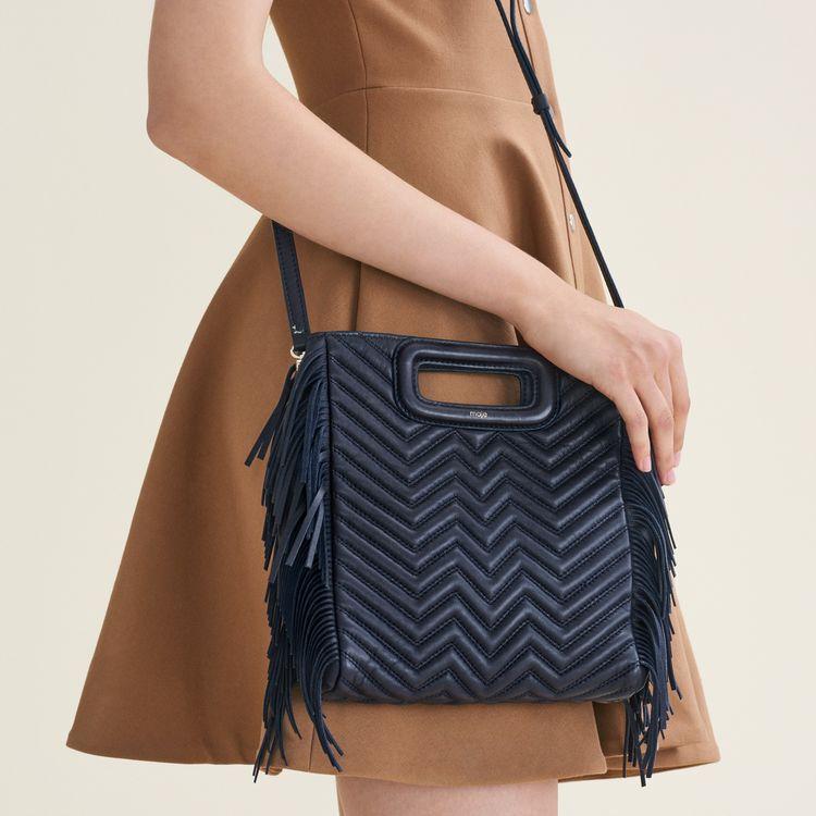 Sac M en cuir matelassé : Bags couleur MARINE