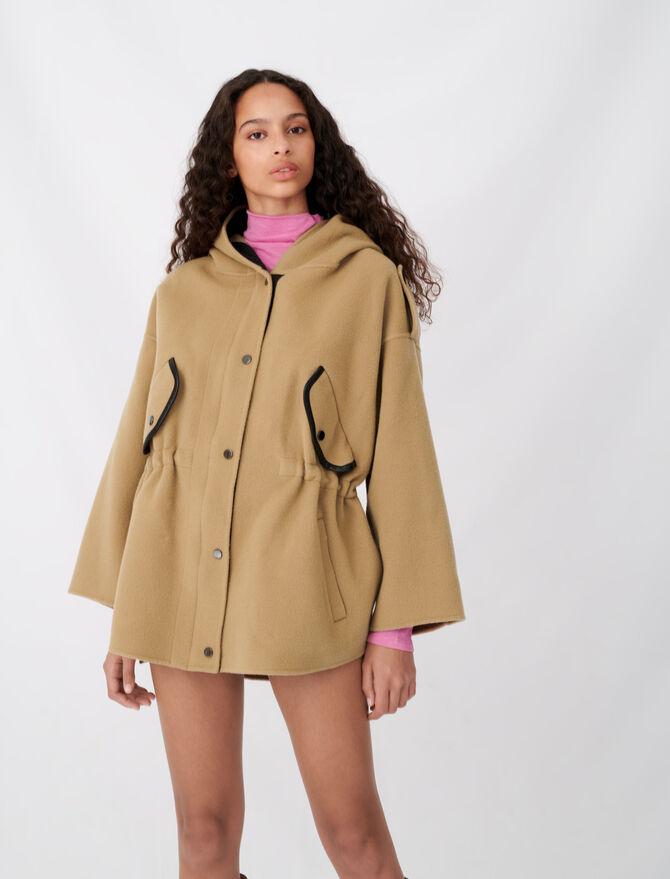 Manteau à capuche en double face - Nouvelle collection - MAJE