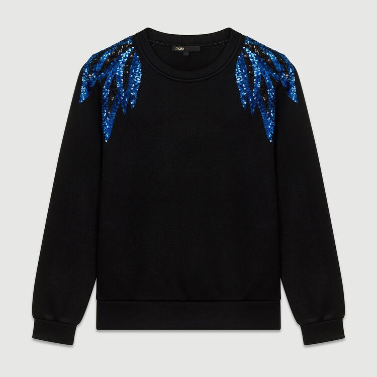 Sweat-shirt brodé : Sweats couleur Black