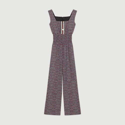 Combinaison en tweed : Pantalons couleur JACQUARD