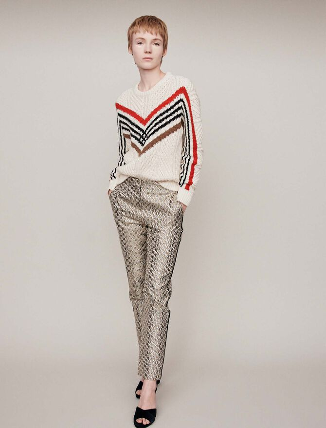 Twisted sweater with graphic motifs - Best Sellers - MAJE