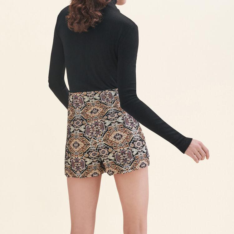 Short court en jacquard : Jupes & Shorts couleur Jacquard
