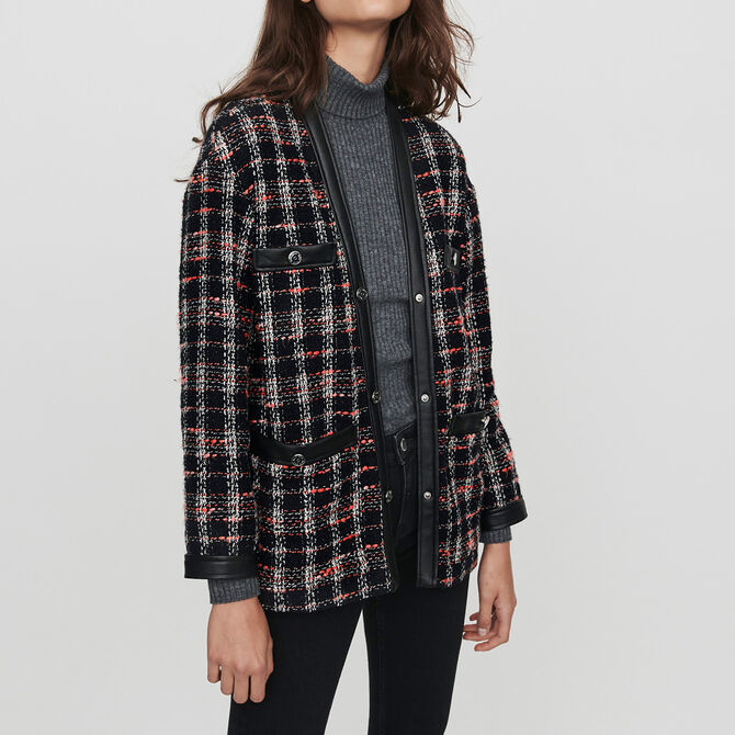 Tweed-syle contrast jacket - See all - MAJE