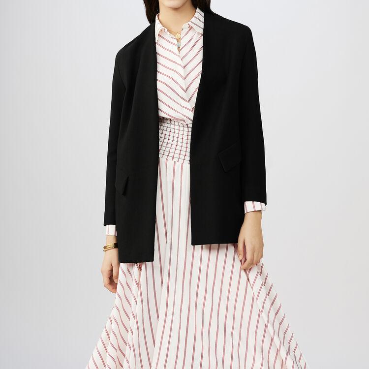 Veste habillée en coton : Vestes couleur Black