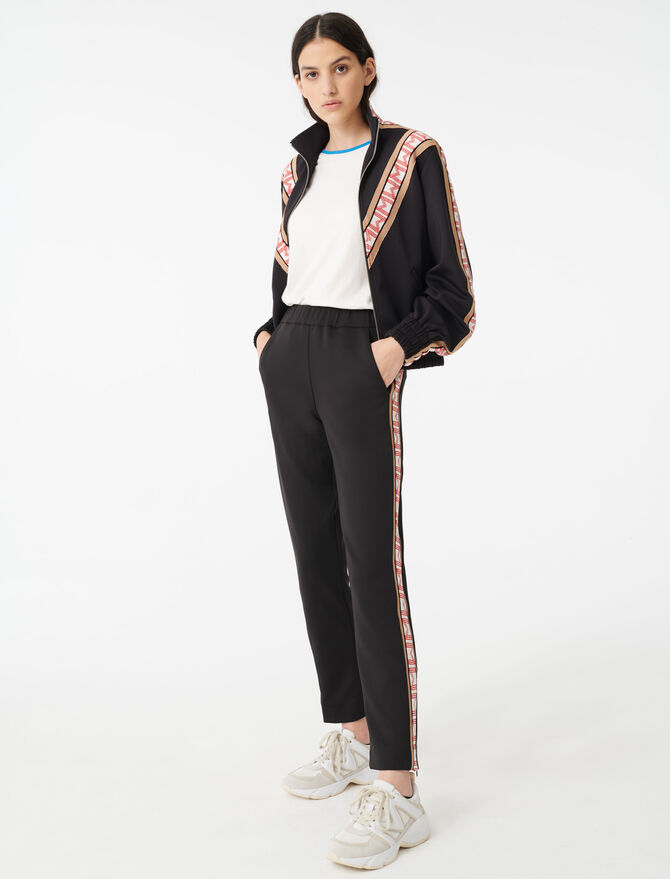 Tracksuit bottoms with bands - All the collection - MAJE