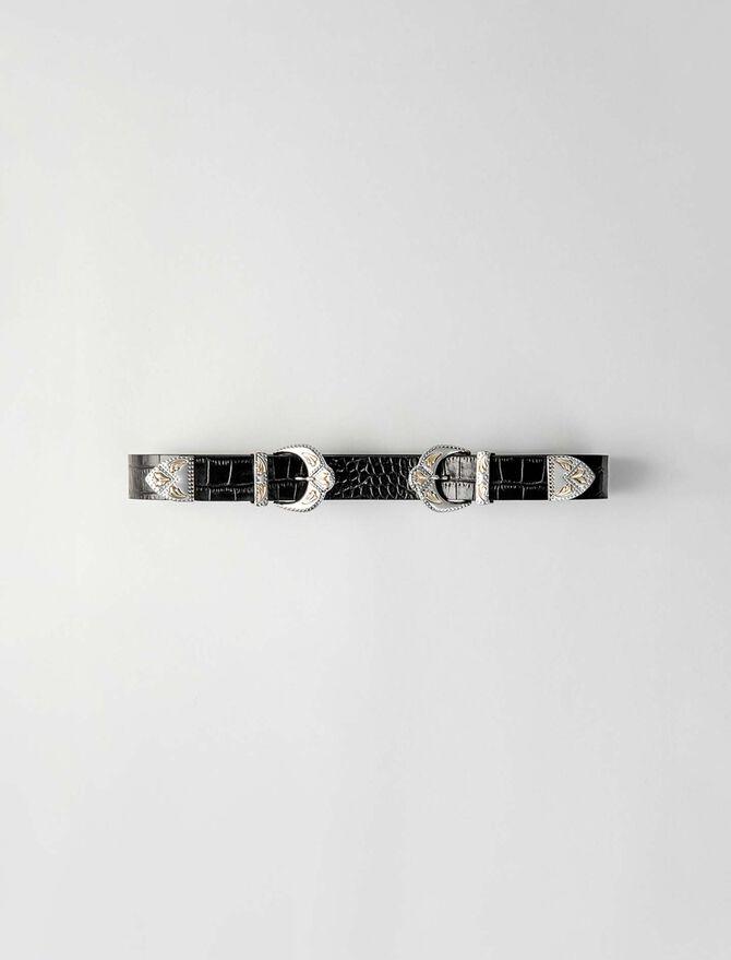 Western double buckle belt - Belts - MAJE
