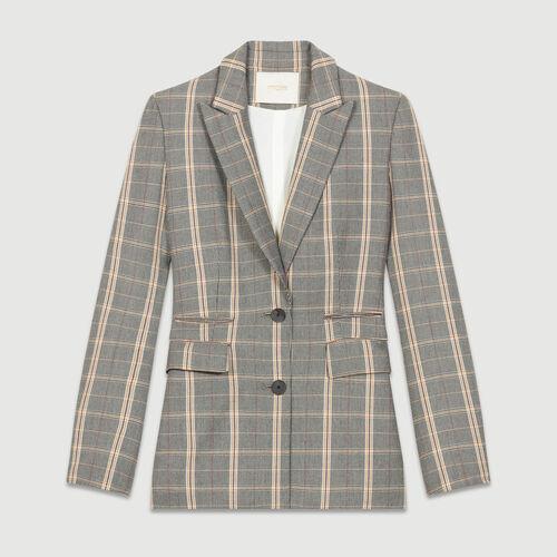 Veste épaulée à carreaux : Vestes couleur CARREAUX