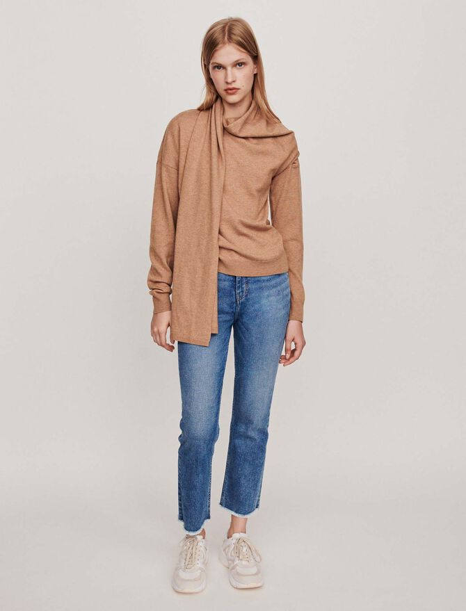 Knotted crewneck sweater - Pullovers & Cardigans - MAJE