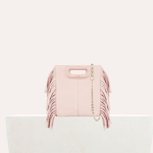 M mini-bag with suede fringes : M Mini color Nude