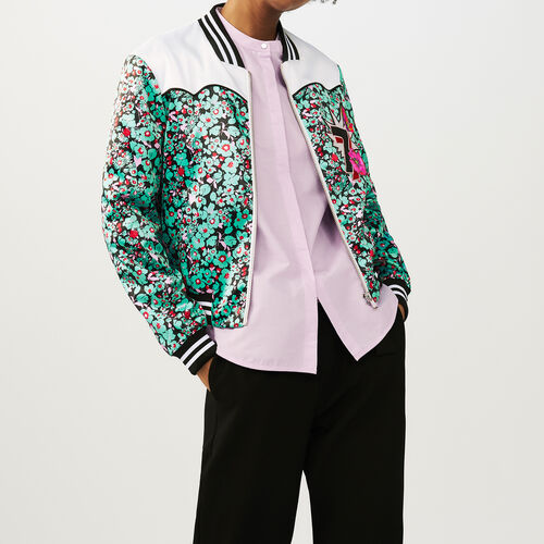 Multicolored bomber jacket with print : Jackets color PRINTED