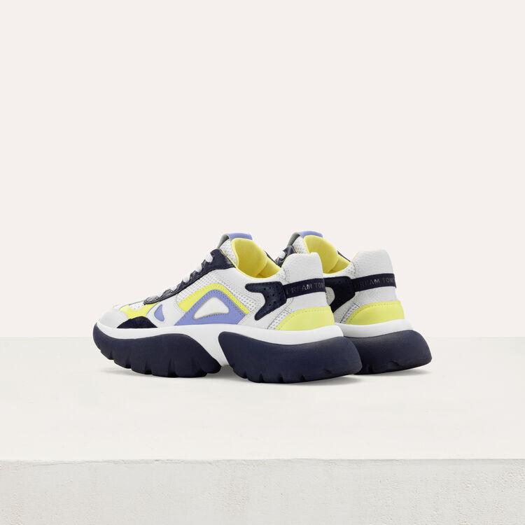 Sneakers W20 urbaines en cuir : Sneakers couleur Bleu