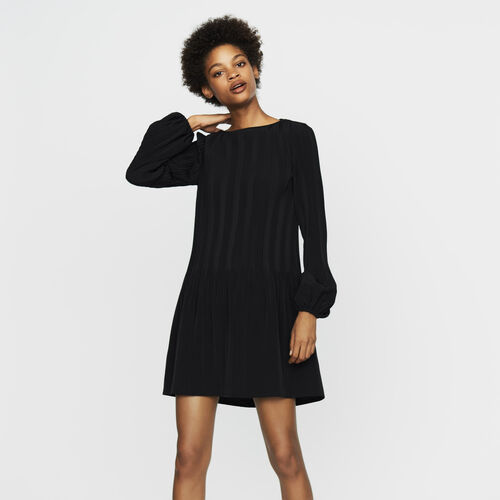 Robe plissée : Nouvelle Collection couleur Black