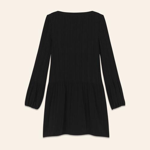 Robe plissée : Robes couleur BLACK