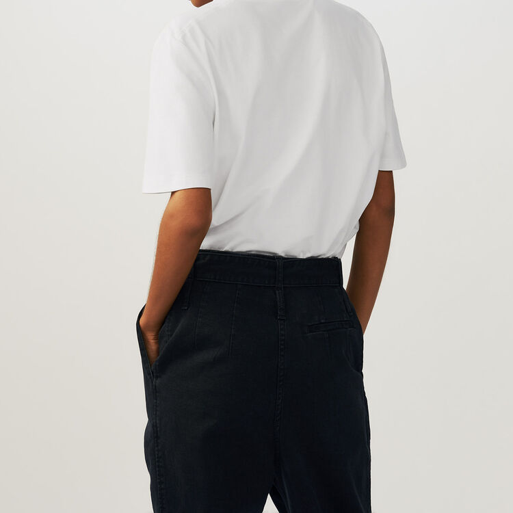 Tee-shirt en coton avec broderies 77 : T-Shirts couleur ECRU