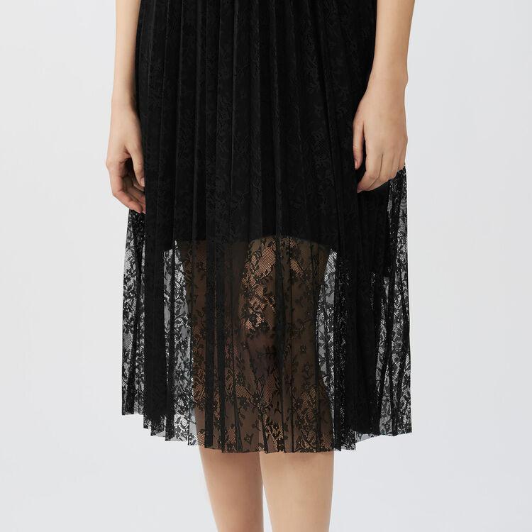 Robe sans manches en dentelle : Robes couleur Black