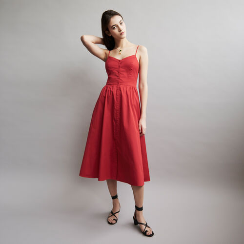 Maxi dress with crop top : Dresses color ROUGE