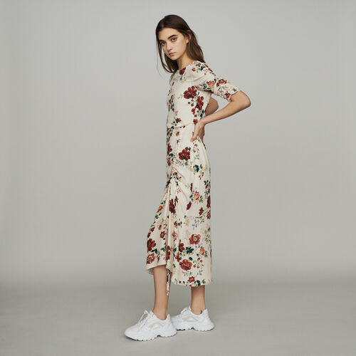 Long dress with floral print : Dresses color Print