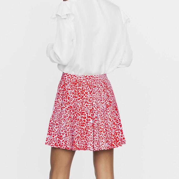 Jupe plissée à imprimé léopard : Nouvelle Collection couleur IMPRIME