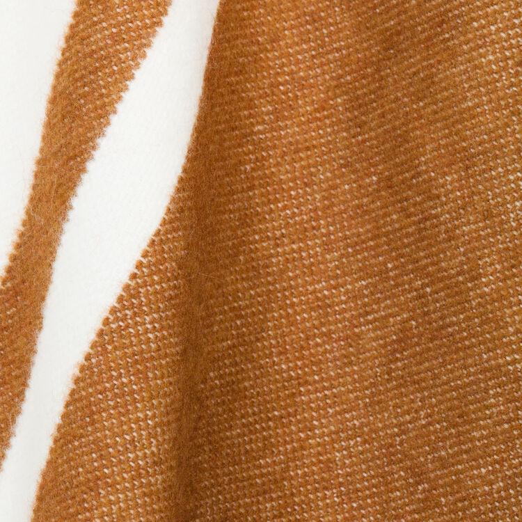 Poncho Bicolore à franges : Accessoires couleur ECRU