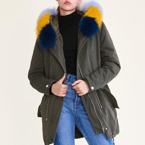 Parka à doublure amovible : Manteaux couleur Kaki