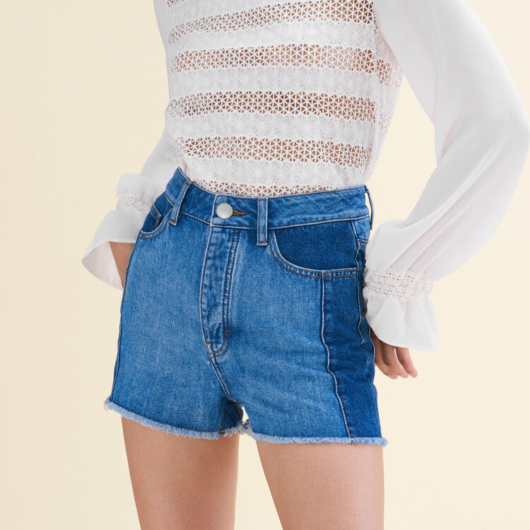 Patchwork-style denim shorts - See all - MAJE