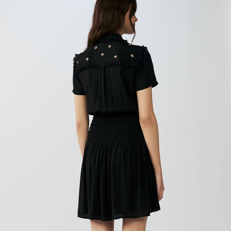 Robe courte sertie d'abeilles : Robes couleur Black