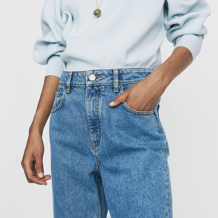 Jean large en denim délavé : Prêt-à-porter couleur Denim