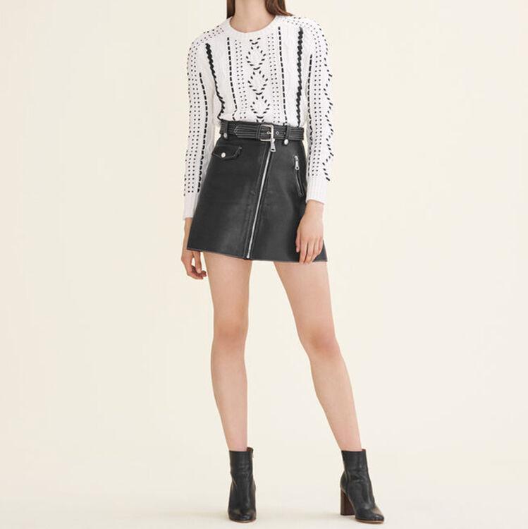 Pull en maille torsadée : Pulls & Cardigans couleur ECRU