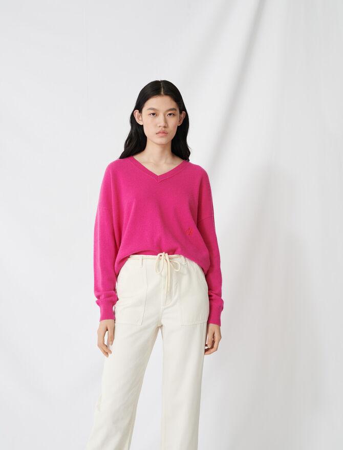 V-neck cashmere jumper - Pullovers & Cardigans - MAJE