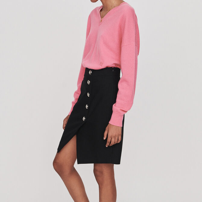 Pencil skirt with buttons - See all - MAJE