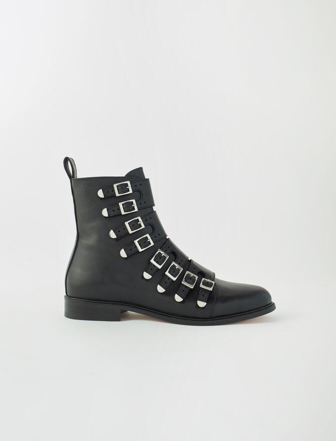 Multi-strap flat boots -  - MAJE