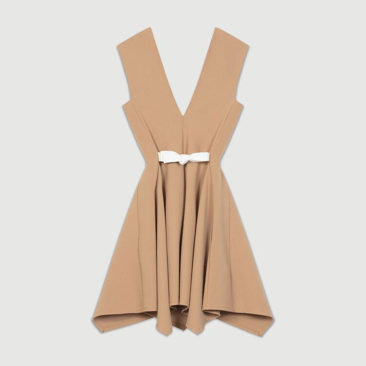 Robe chasuble décolleté V : Robes couleur Camel